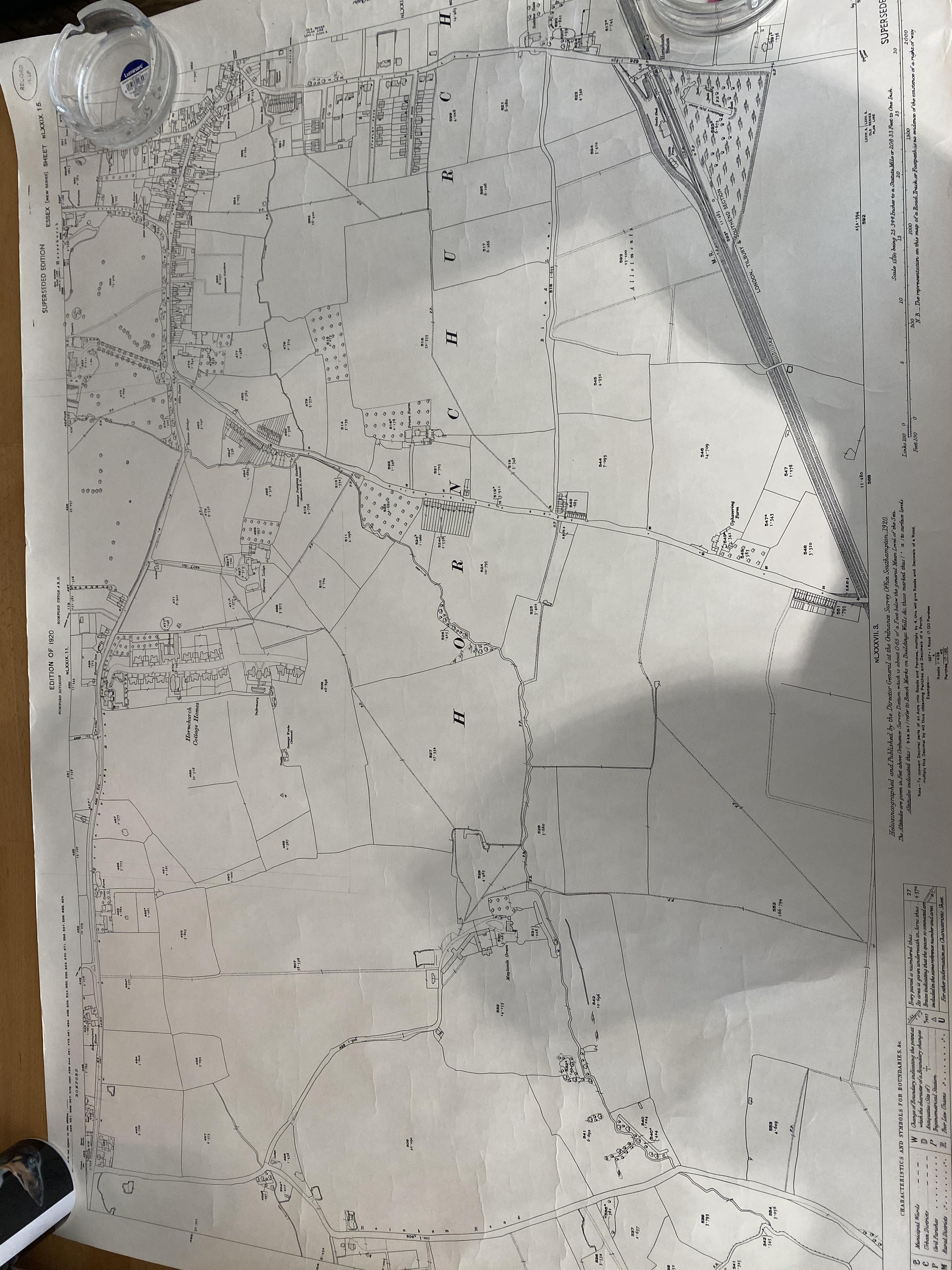 Superseeded Edition, Edition 1920 Essex, Hornchurch ordnance map