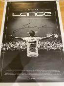 LANGE I Believe hand signed poster