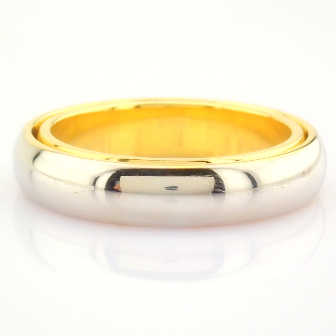 14K Yellow and White Gold Engagement Ring, For Couple - Image 5 of 5
