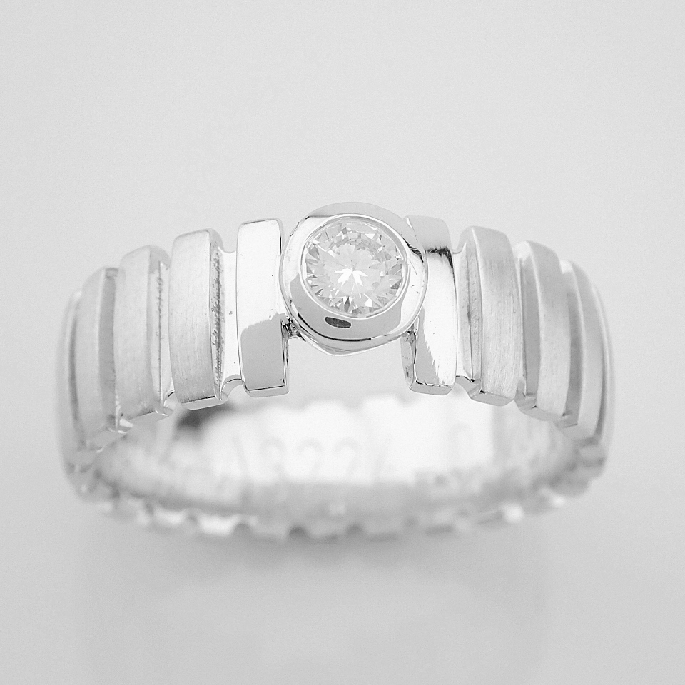 14K White Gold Engagement Ring, For Her - Image 3 of 5