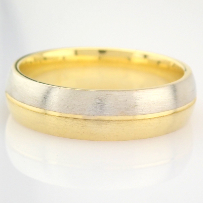 14K Yellow and White Gold Engagement Ring, For Him - Image 4 of 4