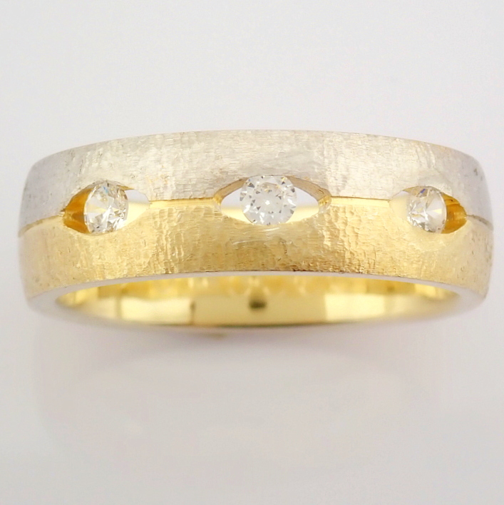 14K Yellow and White Gold Engagement Ring, For Her - Image 4 of 4