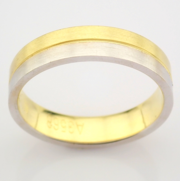 14K Yellow and White Gold Engagement Ring, For Couple - Image 4 of 6