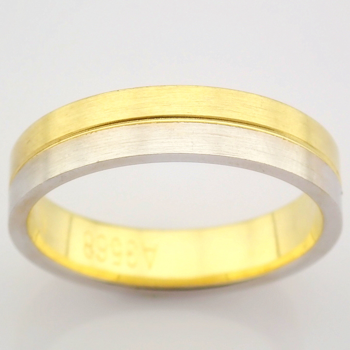 14K Yellow and White Gold Engagement Ring, For Him - Image 3 of 8