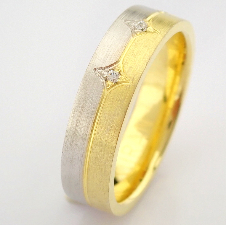14K Yellow and White Gold Engagement Ring, For Her - Image 4 of 5