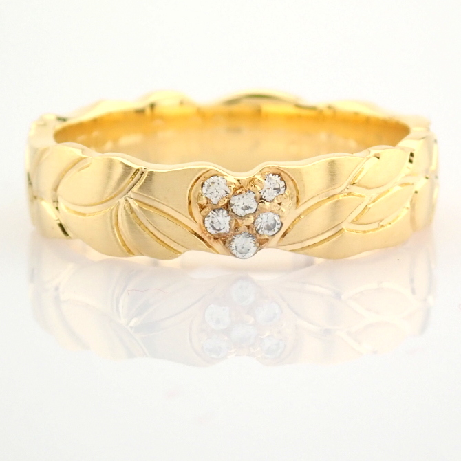 14K Yellow Gold Engagement Ring, For Her - Image 3 of 3