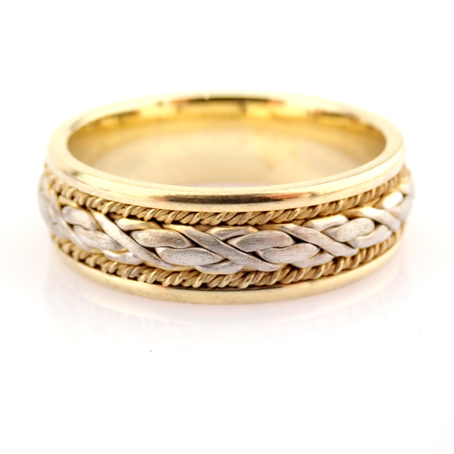 14K Yellow and White Gold Engagement Ring, For Him - Image 2 of 4