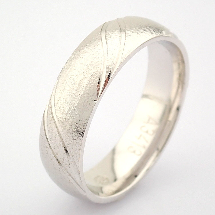 14K White Gold Engagement Ring, For Couple - Image 4 of 5