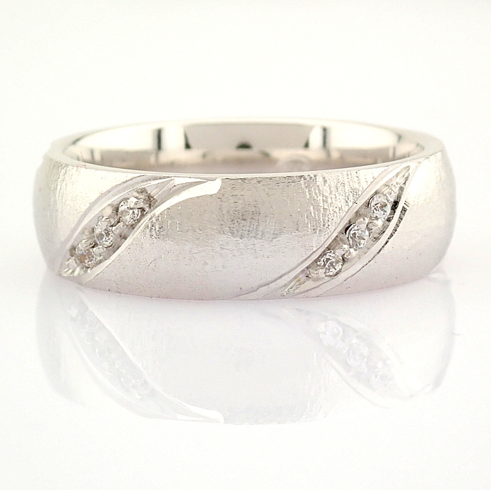 14K White Gold Engagement Ring, For Her - Image 4 of 4