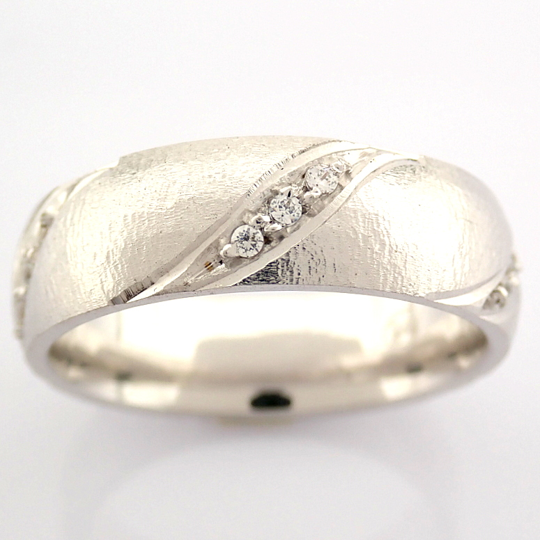 14K White Gold Engagement Ring, For Her - Image 3 of 4
