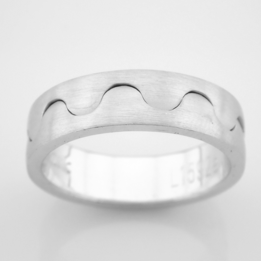 14K White Gold Engagement Ring, For Him - Image 4 of 5