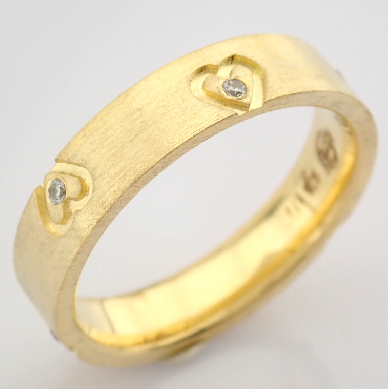 14K Yellow Gold Engagement Ring, For Couple - Image 3 of 6
