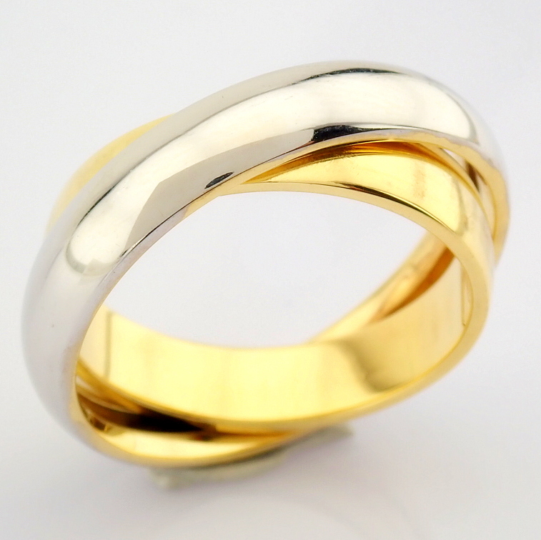 14K Yellow and White Gold Engagement Ring, For Couple - Image 4 of 5