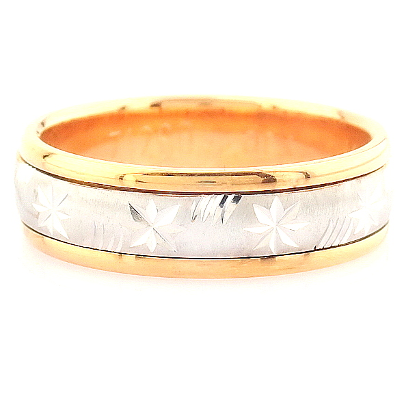 14K White and Rose Gold Engagement Ring, For Her - Image 4 of 4