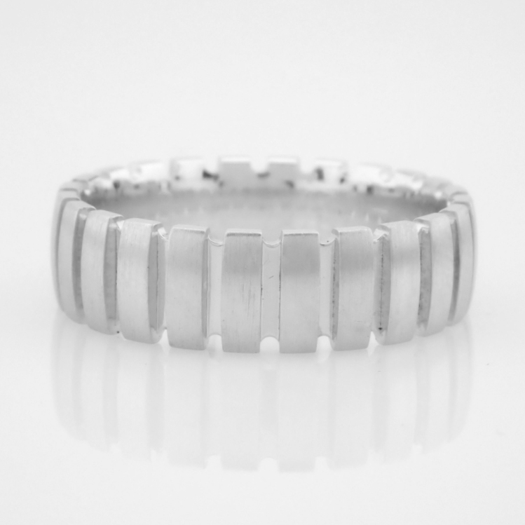 14K White Gold Engagement Ring, For Him - Image 4 of 4