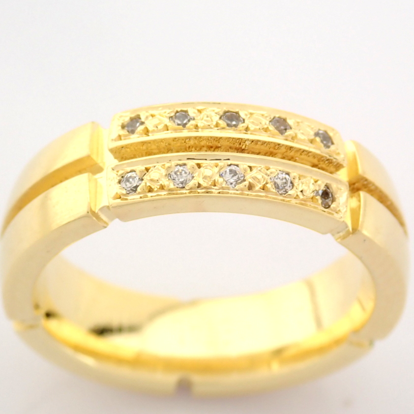 14K Yellow Gold Engagement Ring, For Her - Image 4 of 5