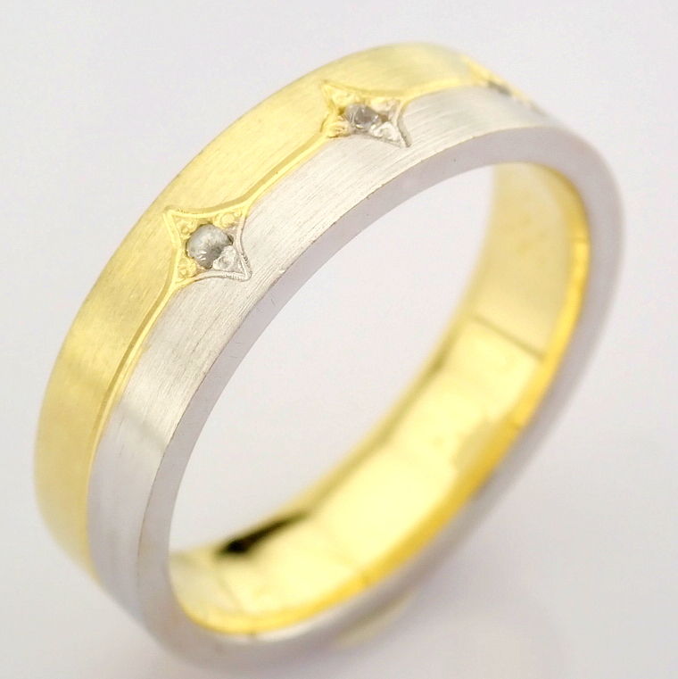 14K Yellow and White Gold Engagement Ring, For Her - Image 2 of 5