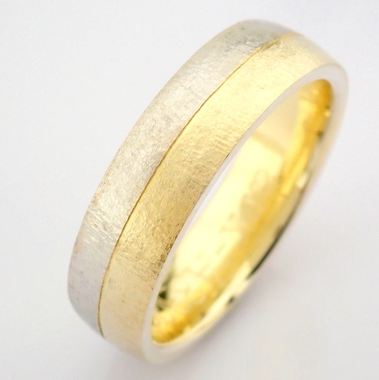 14K Yellow and White Gold Engagement Ring, For Him