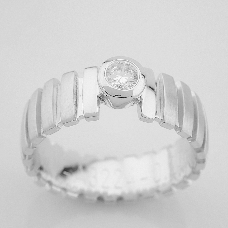 14K White Gold Engagement Ring, For Her - Image 2 of 5