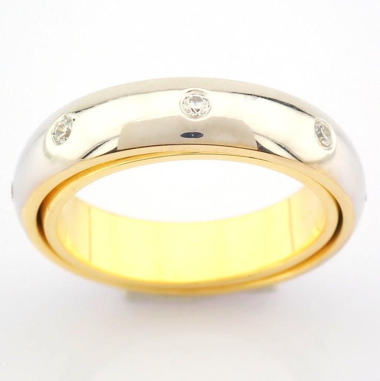 14K Yellow and White Gold Engagement Ring, For Couple