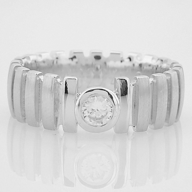 14K White Gold Engagement Ring, For Her - Image 5 of 5