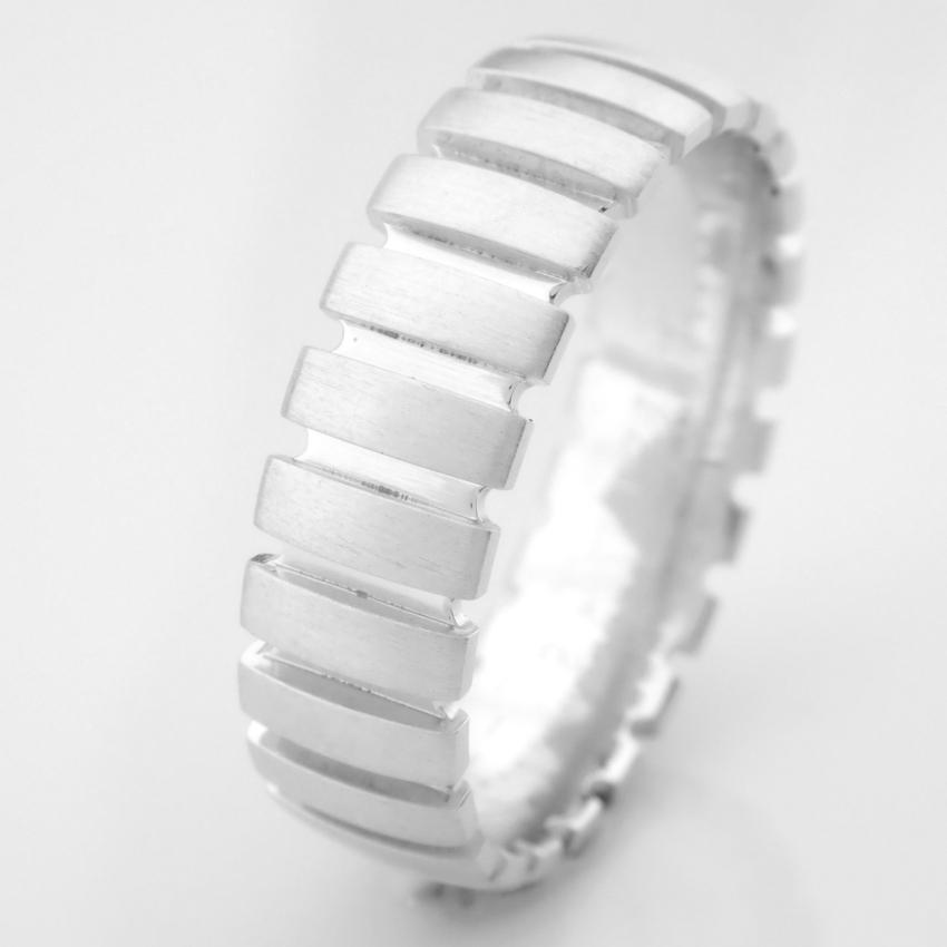 14K White Gold Engagement Ring, For Him