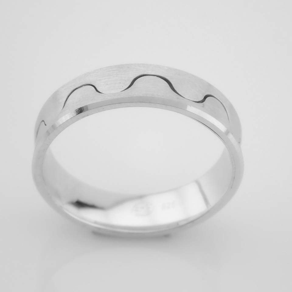 14K White Gold Engagement Ring, For Him - Image 2 of 5