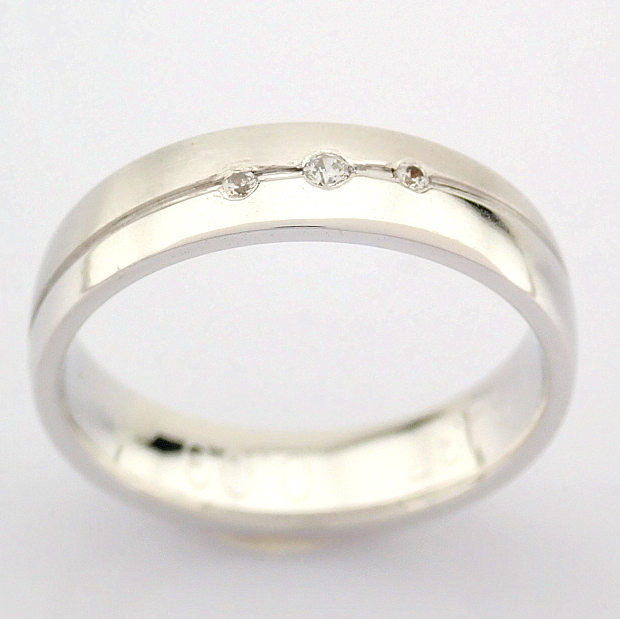 14K White Gold Engagement Ring, For Couple - Image 3 of 5