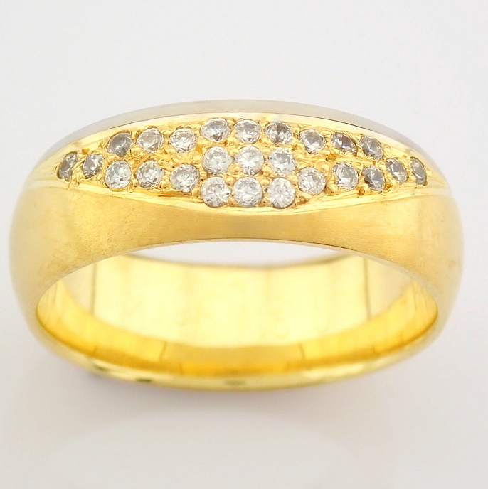 14K Yellow and White Gold Engagement Ring, For Her - Image 2 of 4