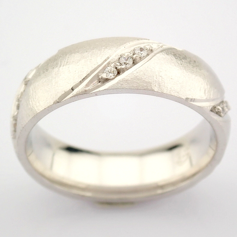 14K White Gold Engagement Ring, For Her - Image 2 of 4