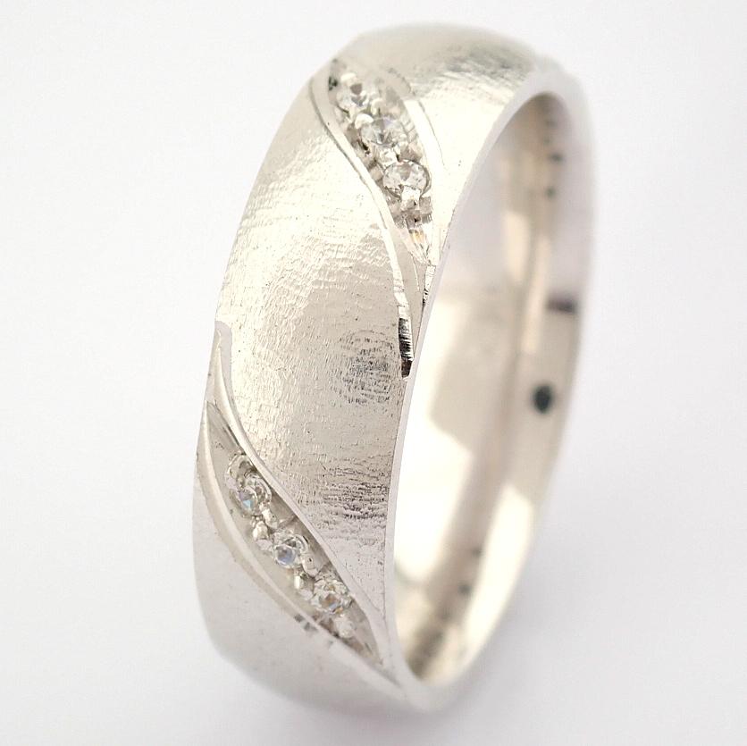 14K White Gold Engagement Ring, For Her