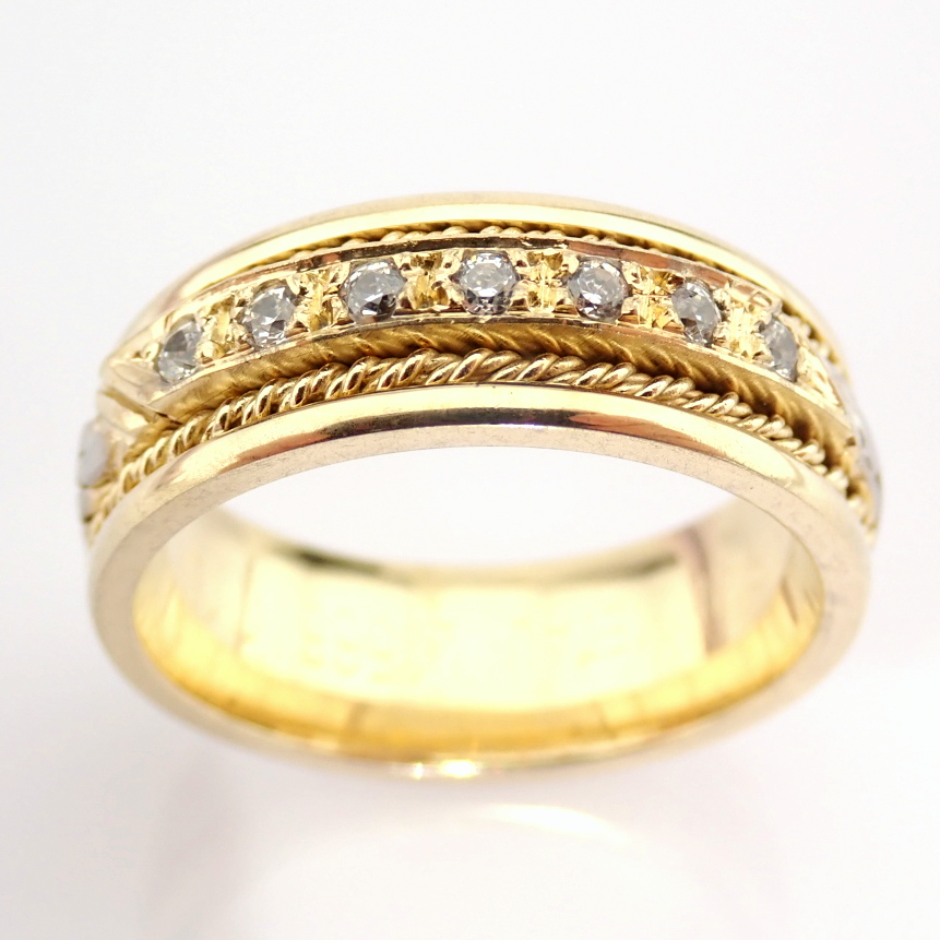 14K Yellow and White Gold Engagement Ring, For Her - Image 3 of 3