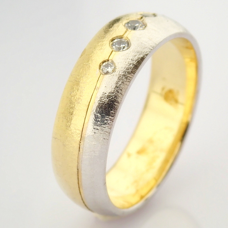 14K Yellow and White Gold Engagement Ring, For Couple - Image 3 of 5