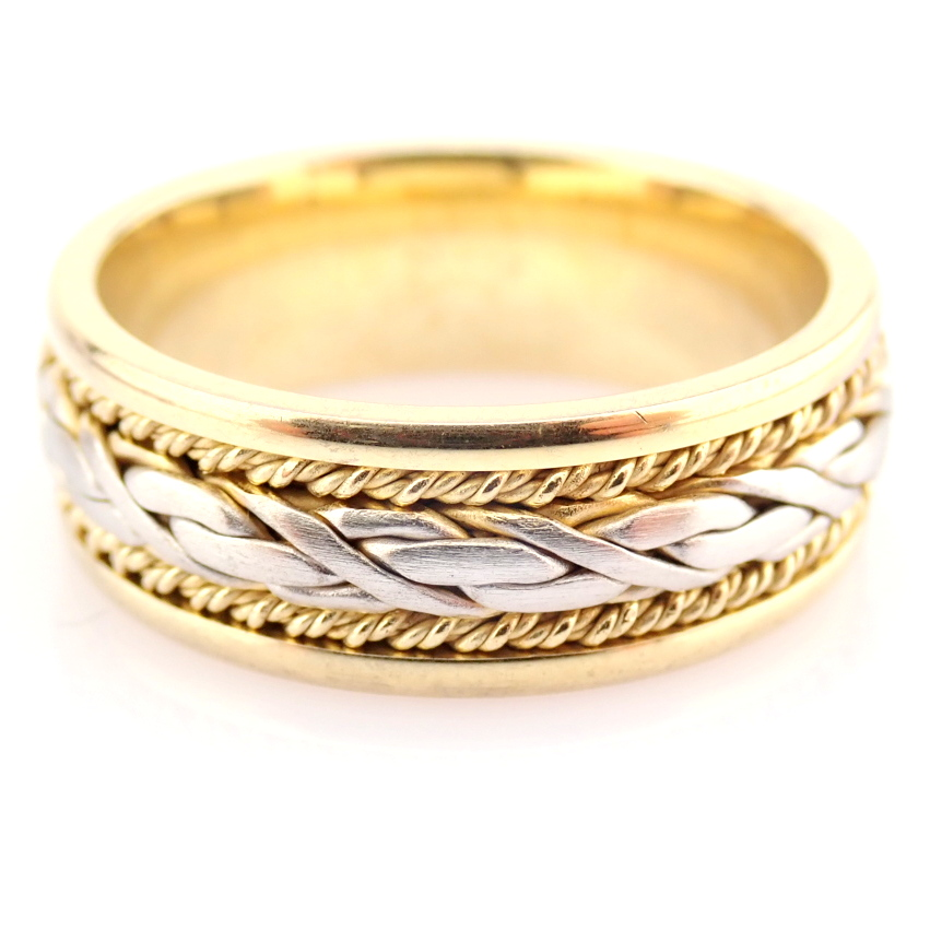 14K Yellow and White Gold Engagement Ring, For Her - Image 2 of 3