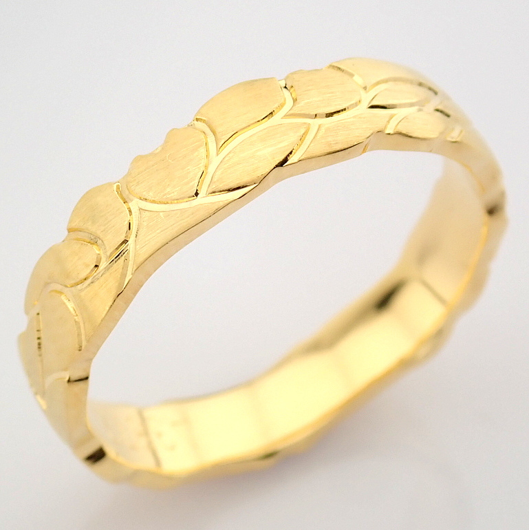 14K Yellow Gold Engagement Ring, For Him