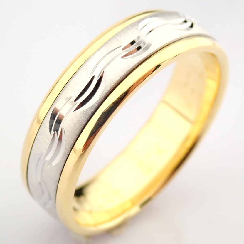 14K Yellow and White Gold Engagement Ring, For Her