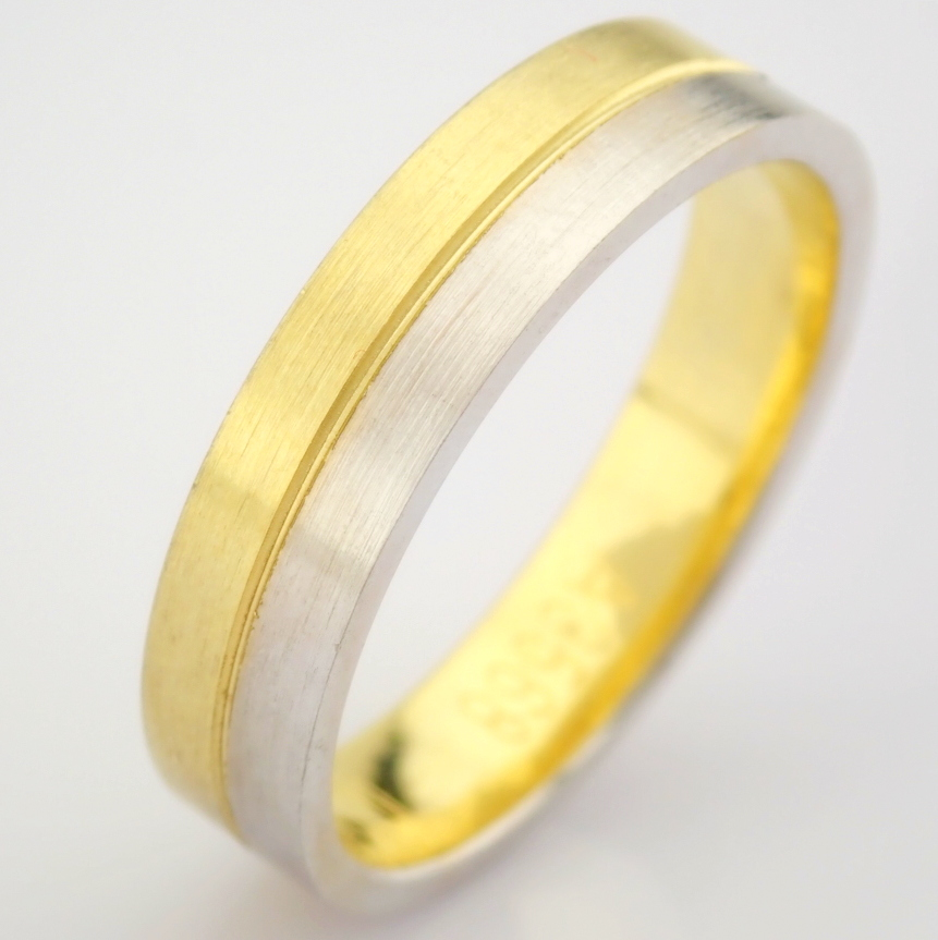 14K Yellow and White Gold Engagement Ring, For Couple - Image 3 of 6