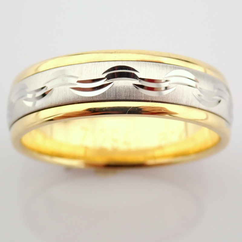 14K Yellow and White Gold Engagement Ring, For Him - Image 3 of 4