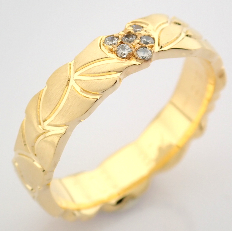 14K Yellow Gold Engagement Ring, For Her