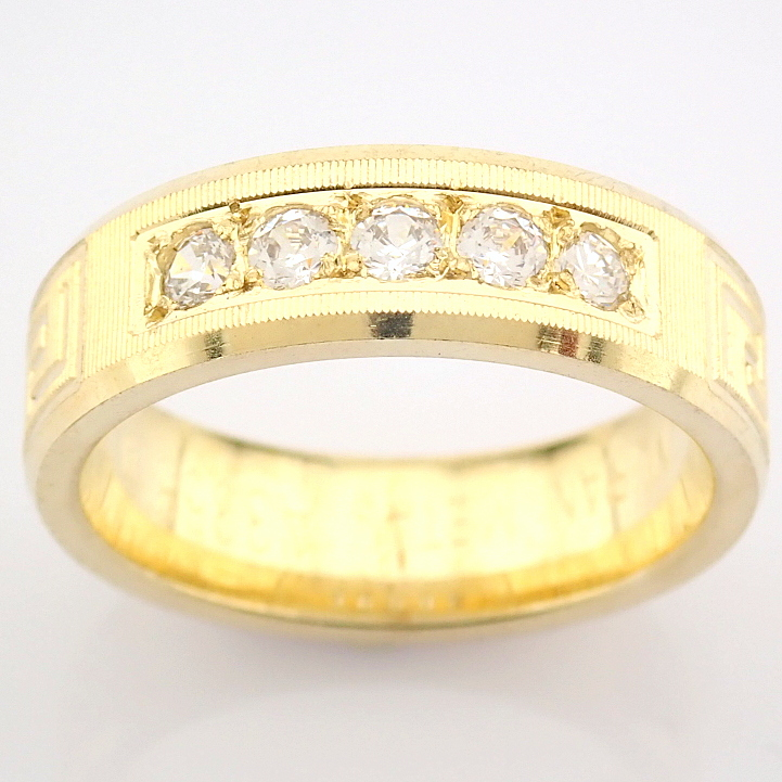 14K Yellow Gold Engagement Ring, For Couple - Image 3 of 5