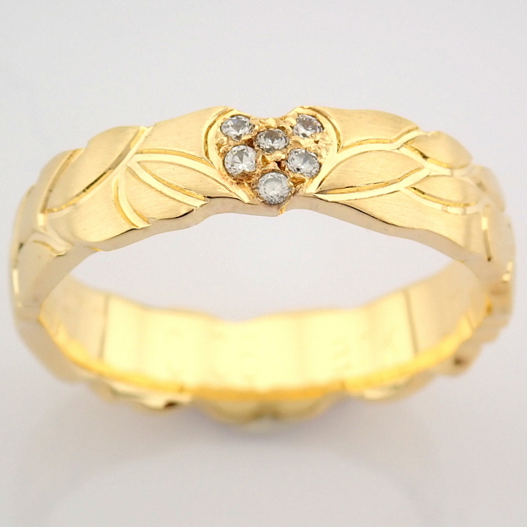 14K Yellow Gold Engagement Ring, For Her - Image 2 of 3