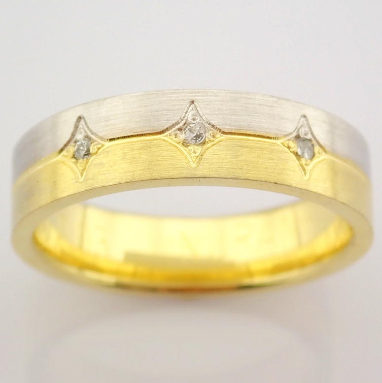 14K Yellow and White Gold Engagement Ring, For Couple - Image 6 of 6
