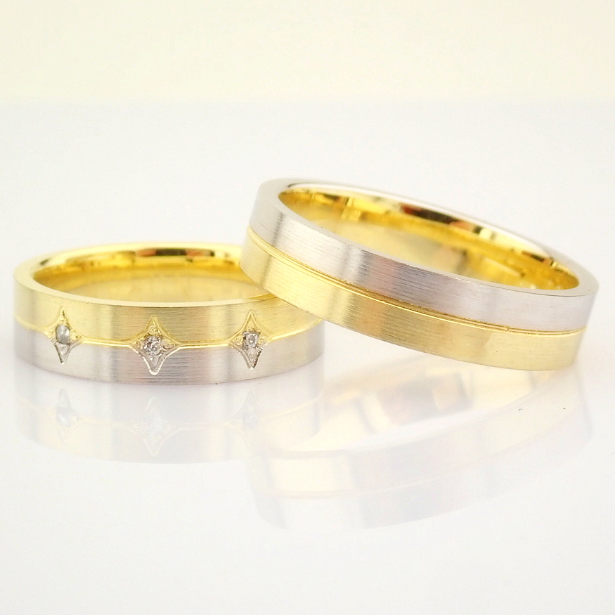14K Yellow and White Gold Engagement Ring, For Couple - Image 2 of 6