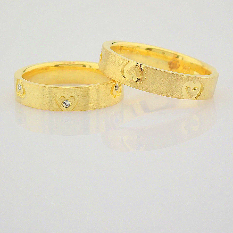 14K Yellow Gold Engagement Ring, For Couple - Image 6 of 6