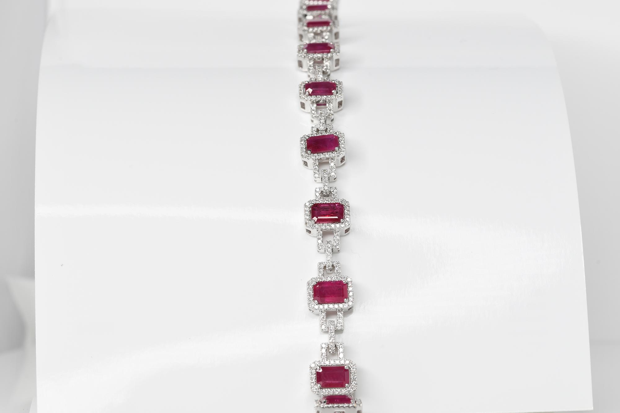 Ruby & Diamond Bracelet - Image 2 of 3