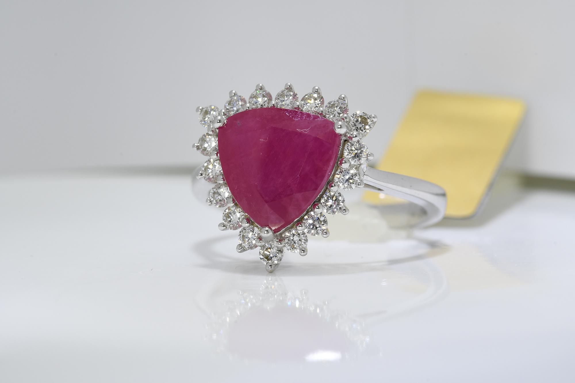 Ruby & Diamond Ring - Image 3 of 3