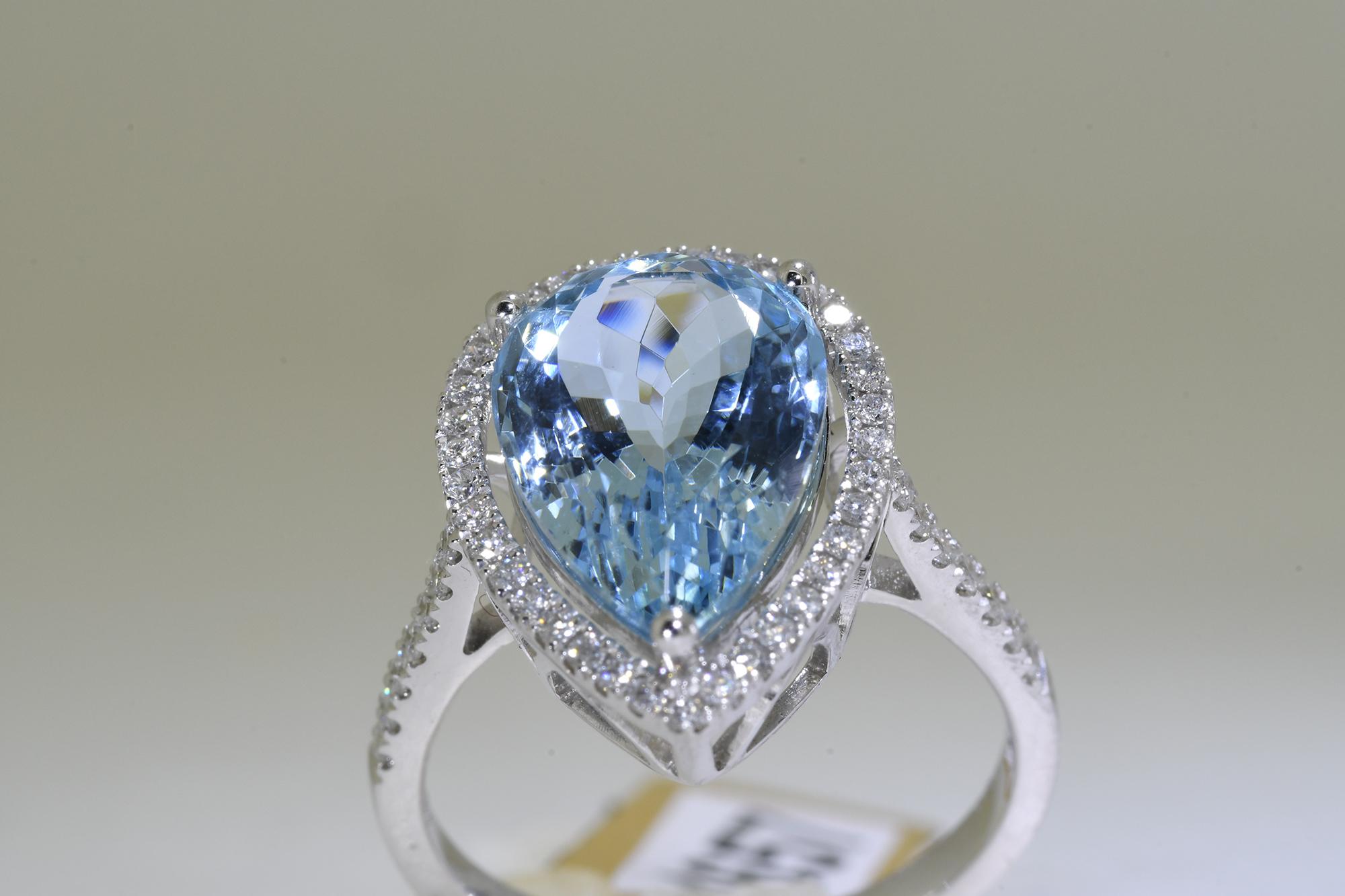 Aquamarine & Diamond Ring - Image 4 of 5