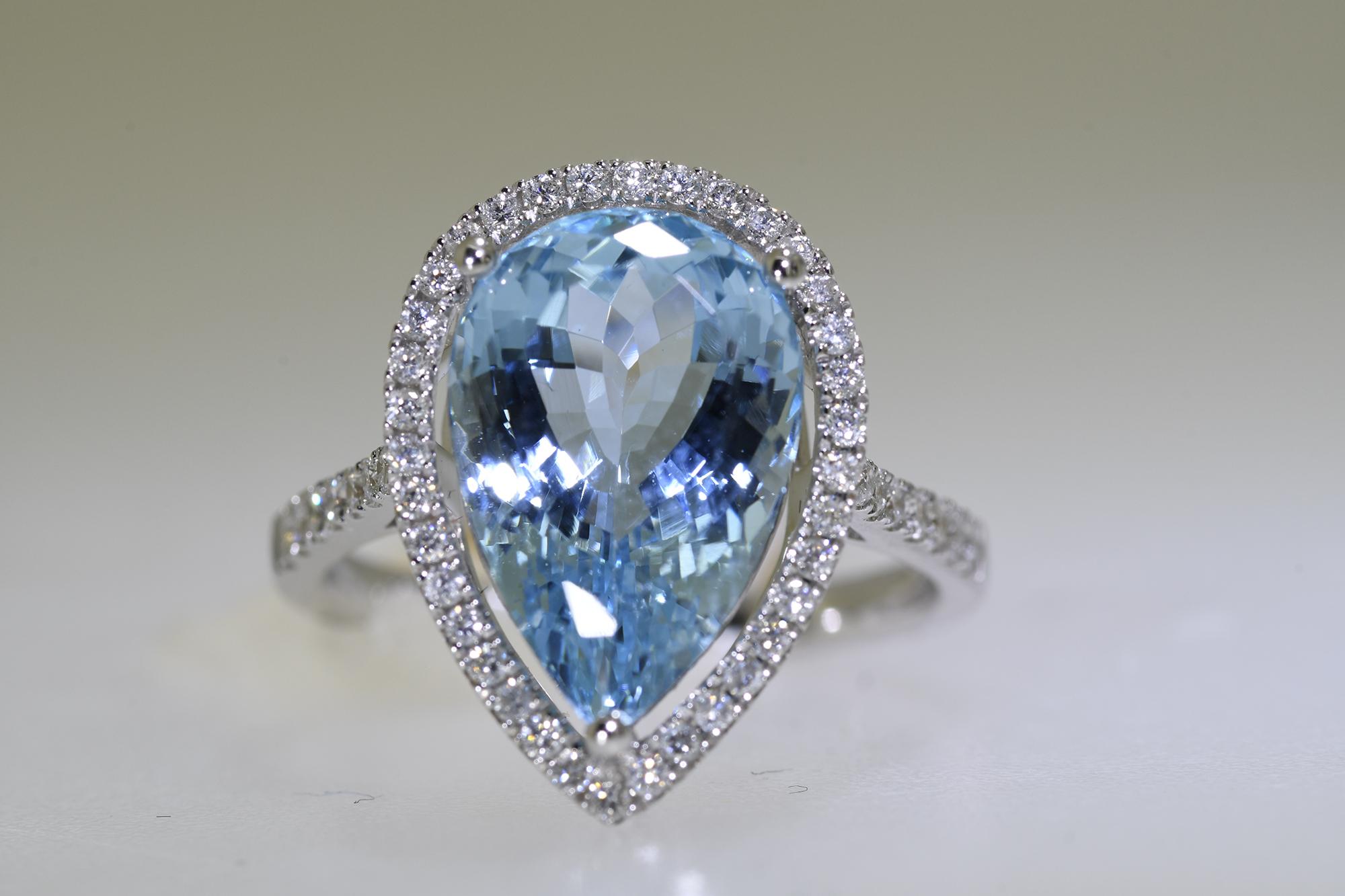 Aquamarine & Diamond Ring - Image 5 of 5