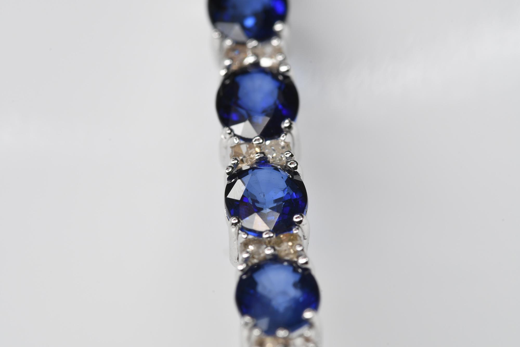 Sapphire & Diamond Bracelet - Image 4 of 4