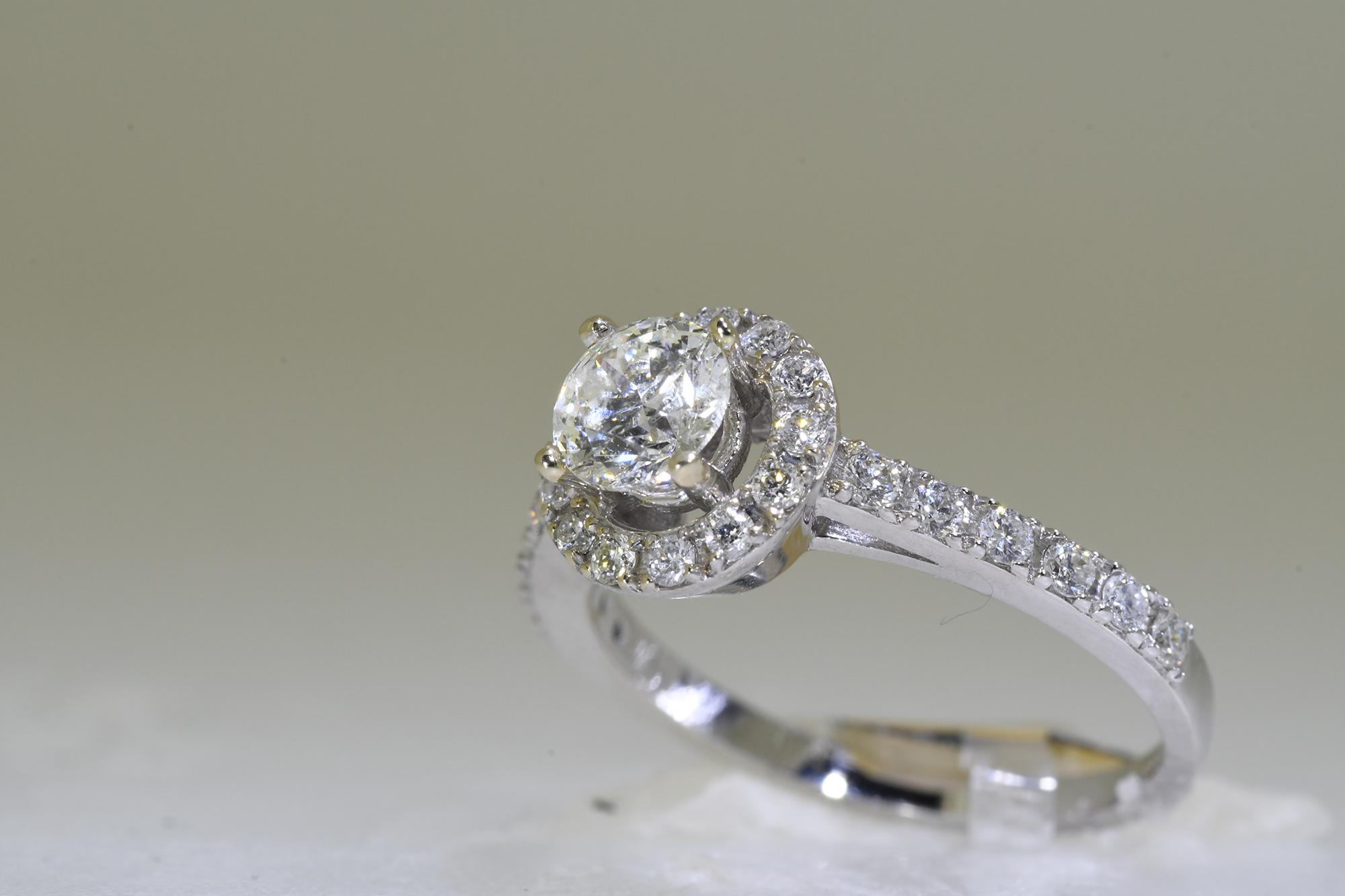 Halo Diamond Ring - Image 3 of 3